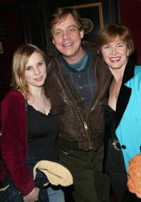 Mark Hamill, his wife Marylou and daughter Chelsea at the premiere of