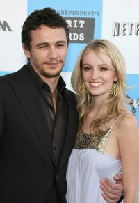 James Franco and guest at the 22nd Annual Film Independent Spirit Awards.
