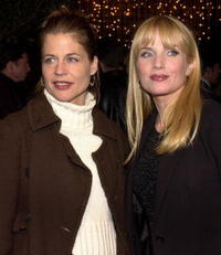 Linda Hamilton and Rebecca De Mornay at the premiere of