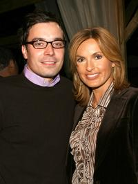 Jimmy Fallon and Mariska Hargitay at the Imitation of Christ Spring 2006 fashion show during the Olympus Fashion week.