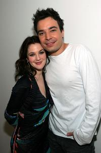 Drew Barrymore and Jimmy Fallon at the MTV's Total Request Live.