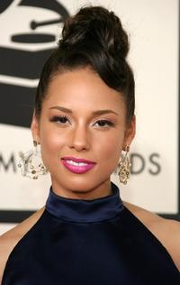 Alicia Keys at the 50th annual Grammy awards.
