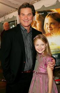 Kurt Russell and Dakota Fanning at the premiere of