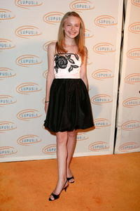 Dakota Fanning at the Lupus LA's 2008 Orange Ball.