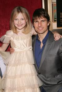 Dakota Fanning and Tom Cruise at the premiere of