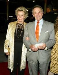 Dina Merrill and Ted Hartley at the premiere of