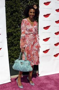 Marsha Thomason at the luncheon celebrating the opening of Diane von Furstenbergs Melrose Place boutique.