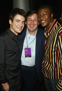 Matt Long, Director David Nutter and Edwin Hodge at the WB Upfront All-Star Party.