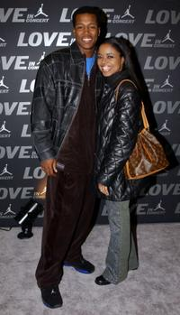 Flex Alexander and Shanice Wilson at the Jordan Presents LOVE: In Concert.
