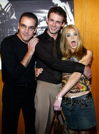 Mandy Patinkin, Callum Blue and Ellen Muth at the party of