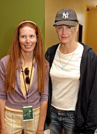 Page Hannah and her sister Daryl Hannah at the Painted Turtle Camp.