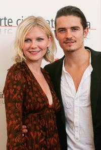 Orlando Bloom and Kirsten Dunst at the 62nd Venice Film Festival for