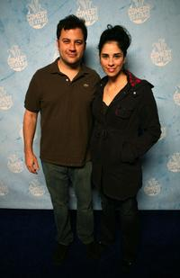 Jimmy Kimmel and Sarah Silverman at the Comedy Central's 2007 Emmy Party.