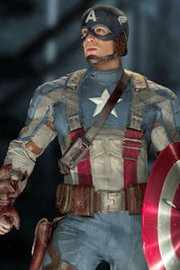 Chris Evans as Captain America in
