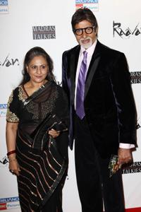 Jaya Bachchan and Amitabh Bachchan at the world premiere of