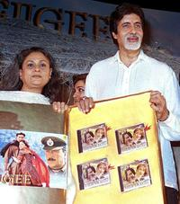 Jaya Bachchan and Amitabh Bachchan at the audio release of