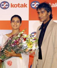 Kajol and Ajay Devgan at the launch of Kotak Mahindra