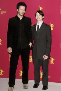 Keanu Reeves and Lou Taylor Pucci at the photocall of