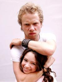 Brandon Fletcher and Jodelle Ferland at the promotion of