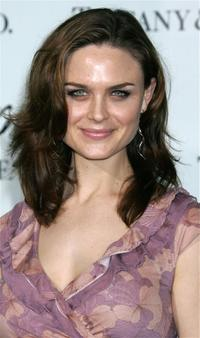 Emily Deschanel at the launch of Frank Gehry's premiere jewelry collection for Tiffany & Co.