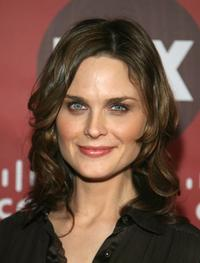 Emily Deschanel at the Fox Fall Eco-Casino party.