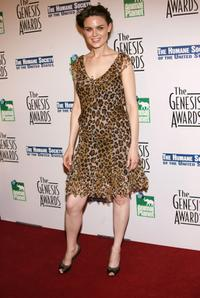 Emily Deschanel at the 20th Anniversary Genesis Awards.