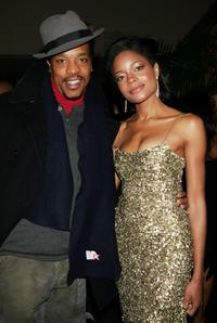 Russell Hornsby and Naomie Harris at the after party premiere of