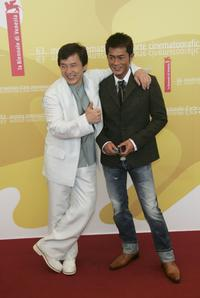 Jackie Chan and Louis Koo at the photocall of