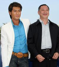 Louis Koo and director Johnny To at the photocall of
