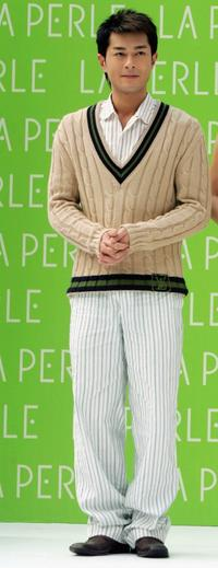 Louis Koo at the La Perle Spring and Summer Series Fashion Show.