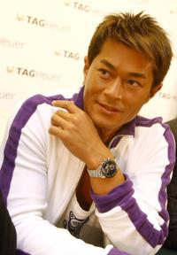 Louis Koo at the press conference to promote watch products for Swiss luxury brand TAG Heuer watch.