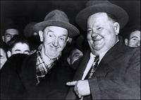 A File Photo of Stan Laurel and Oliver Hardy, Dated January 01, 1950.