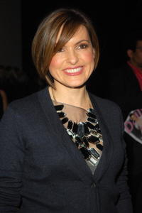 Mariska Hargitay at the Mercedes-Benz Fashion Week Fall 2008, attends the Vera Wang Fall 2008 fashion show.