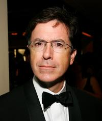 Stephen Colbert at the Comedy Central Emmy after party.