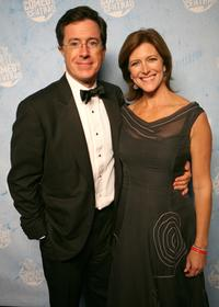 Stephen Colbert and wife Evelyn Mcgee at the Comedy Central's 2007 Emmy party.