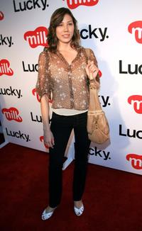 Michaela Conlin at the Lucky Magazine September Issue and LA Shopping Guide celebration.