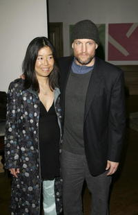 Woody Harrelson and his wife Laura Louie at the UK Premiere of