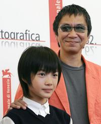 Ryunosuke Kamiki and director Mike Takashi at the 62nd Venice International Film Festival.