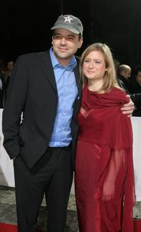 Marc Rothemund and Julia Jentsch at the European Film Awards 2005.