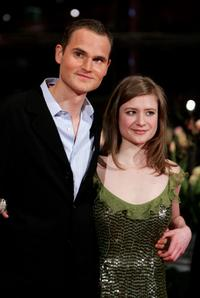 Fabian Hinrichs and Julia Jentsch at the premiere of