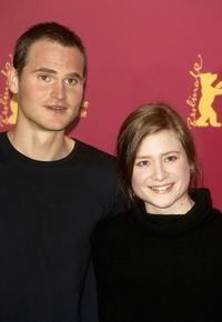 Fabian Hinrichs and Julia Jentsch at the photocall of