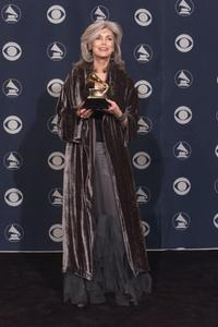 Emmylou Harris at the 43rd Annual Grammy Awards.