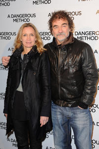 Catherine and Olivier Marchal at the France premiere of