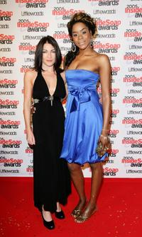 Liz May Brice and Antonia Okonma at the Inside Soap Awards.