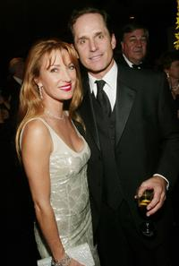 Jane Seymour and Gregory Harrison at the cocktail party of