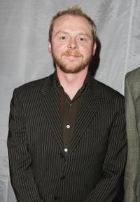 "Simon Pegg at the after party following the premiere of ""The Hitchhiker's Guide to the Galaxy"" in London, England."