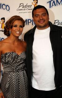 Eva Longoria and Carlos Mencia at the El Sueno De Esperanza Gala.