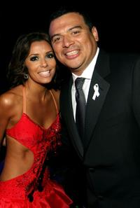 Eva Longoria and Carlos Mencia at the 2007 NCLR ALMA Awards.