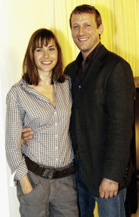 Christiane Paul and Wotan Wilke Mohring at the photocall of German TV series