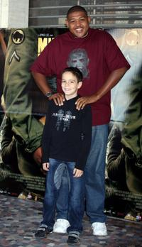 Omar Benson Miller and Matteo Sciabordi at the Italian photocall of
